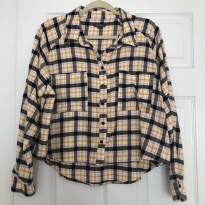 3c3d9cab35f095 Wild Fable Flannel Shirt. Wild Fable Flannel Shirt. $8.00 $0.00. Women's  Plaid Long Sleeve Button-Down ...